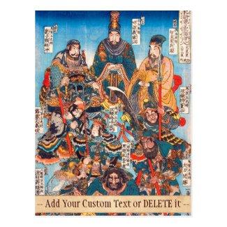 Utagawa Kuniyoshi Legendary Suikoden heroes Postcard
