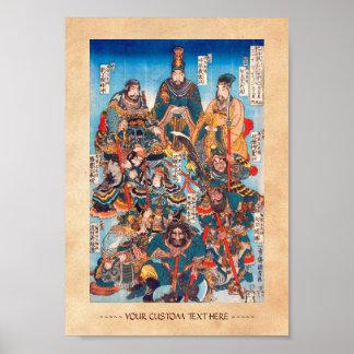 Utagawa Kuniyoshi Legendary Suikoden heroes Poster