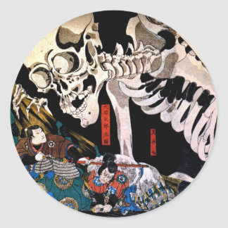 Utagawa Kuniyoshi, Princess Takiyasha summons a sk Classic Round Sticker