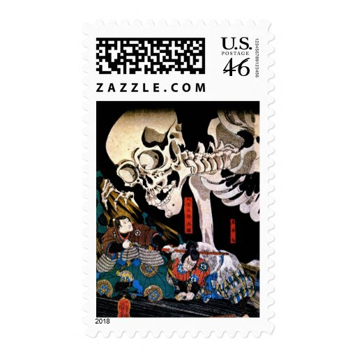 Utagawa Kuniyoshi, Princess Takiyasha summons a sk Stamp