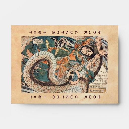 Utagawa Kuniyoshi suikoden arte de la serpiente de