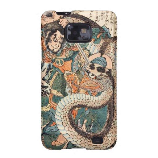 Utagawa Kuniyoshi suikoden arte de la serpiente de Galaxy SII Carcasas
