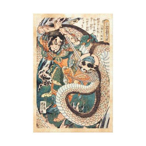 Utagawa Kuniyoshi suikoden arte de la serpiente de Lienzo Envuelto Para Galerias