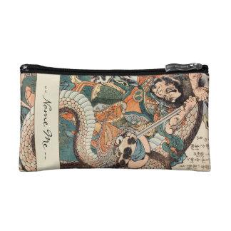 Utagawa Kuniyoshi suikoden hero fighting snake art Makeup Bags