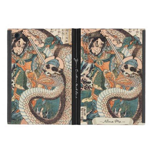 Utagawa Kuniyoshi suikoden hero fighting snake art Case For iPad Mini
