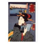 Utagawa Kuniyoshi Woman (12) Post Card