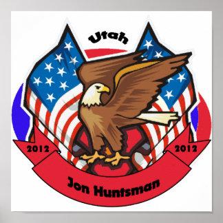 Utah 2012 para el Huntsman de Jon Posters