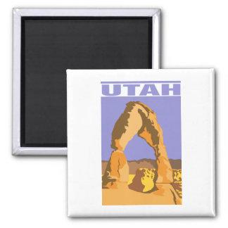 Utah 2 Inch Square Magnet