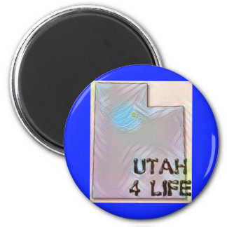 """""""Utah 4 Life"""" State Map Pride Design Magnet"""