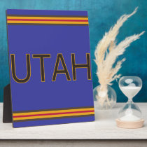 Utah 8x10 Plaque with Easel