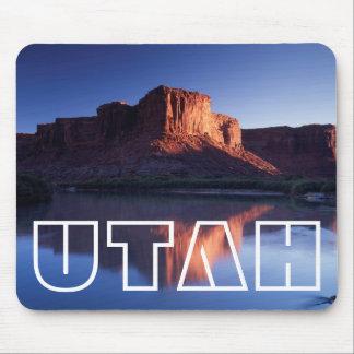 Utah, A mesa reflecting in the Colorado River 2 Mouse Pad