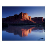 Utah, A mesa reflecting in the Colorado River 2 Poster