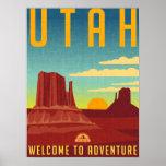 """Utah Adventure - Vintage Design Poster<br><div class=""""desc"""">Utah Adventure - Vintage Design</div>"""