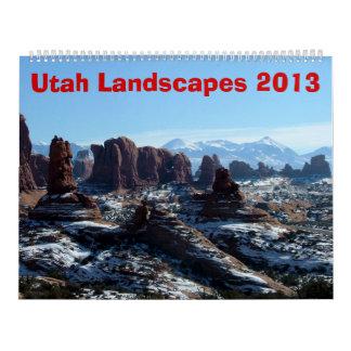 Utah ajardina 2013 calendarios