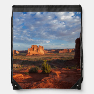 Utah, Arches National Park, rock formations 1 Drawstring Bag