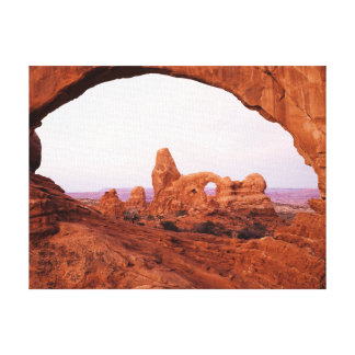 Utah, Arches National Park, Turret Arch 1 Canvas Print
