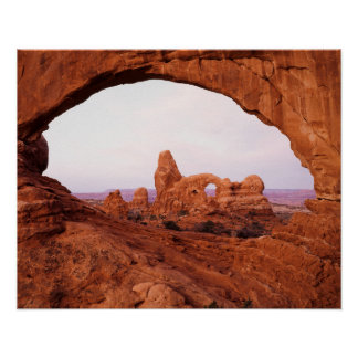 Utah, Arches National Park, Turret Arch 1 Poster