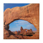 "Utah, Arches National Park, Turret Arch 2 Ceramic Tile<br><div class=""desc"">Utah,  Arches National Park,  Turret Arch,  seen through North Window in The Windows Section 