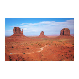 Utah. Arizona Border, Navajo Nation, Monument Canvas Print