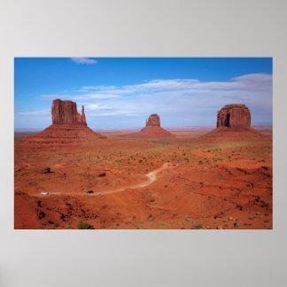 Utah. Arizona Border, Navajo Nation, Monument Poster