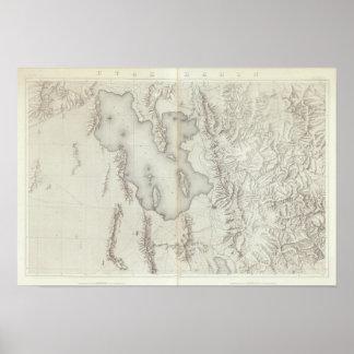 Utah Basin Topographical Poster