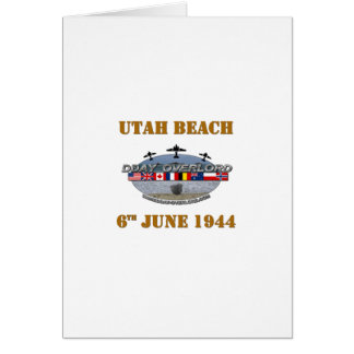 Utah Beach 6th June 1944 Card