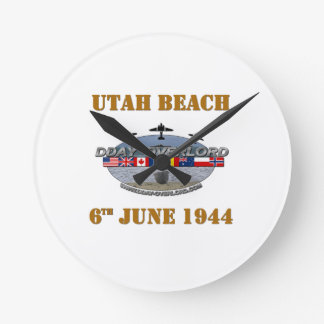 Utah Beach 6th June 1944 Round Wallclocks