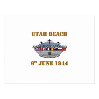 Utah Beach 6th June 1944 Postcard