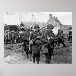 Utah Beach D-Day Troops France World War II Poster