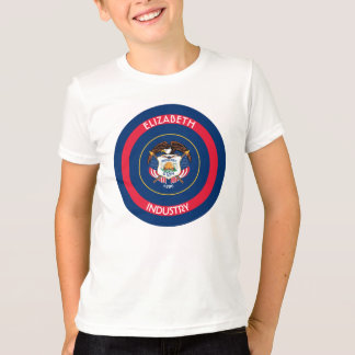 Utah Beehive State Personalized Flag T-Shirt