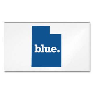 UTAH BLUE STATE MAGNETIC BUSINESS CARD