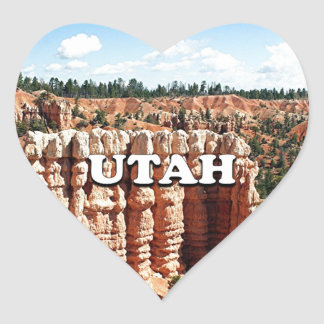 Utah: Bryce Canyon National Park Heart Sticker