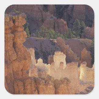 Utah, Bryce Canyon National Park. Hoodoos, Square Sticker