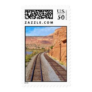 Utah Canyon Train Track Postage