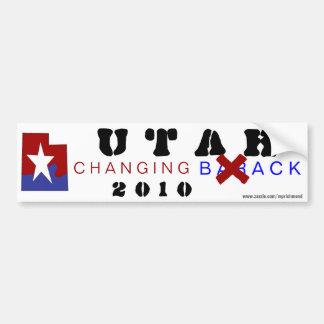 Utah Changing Back 2010 Car Bumper Sticker