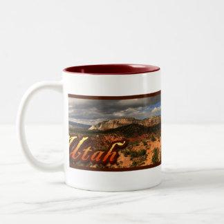 Utah Cliffs Two-Tone Coffee Mug