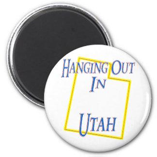 Utah - colgando hacia fuera imán redondo 5 cm