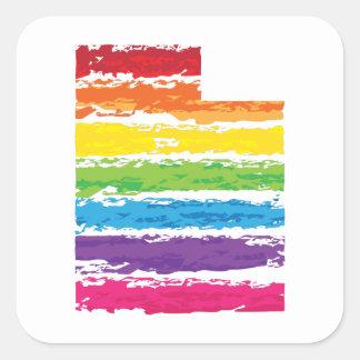 utah color strokes square sticker