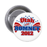 Utah con Romney 2012 Pin