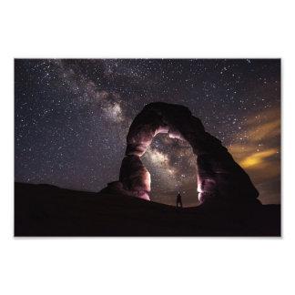 Utah Delicate Arch night stars milky way landscape Photo Print