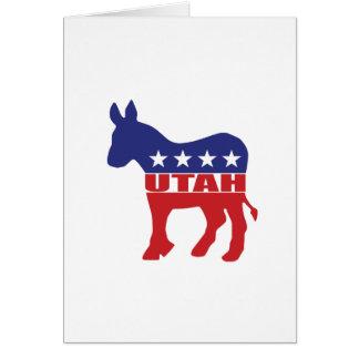 Utah Democrat Donkey Card
