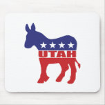 Utah Democrat Donkey Mouse Pad