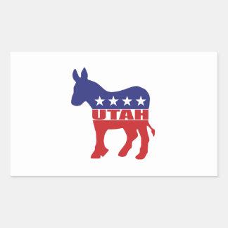 Utah Democrat Donkey Rectangular Sticker
