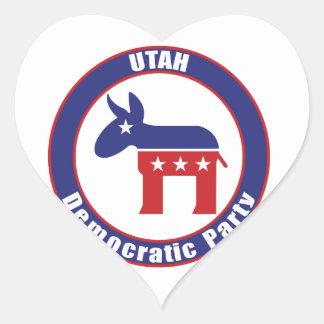 Utah Democratic Party Heart Sticker