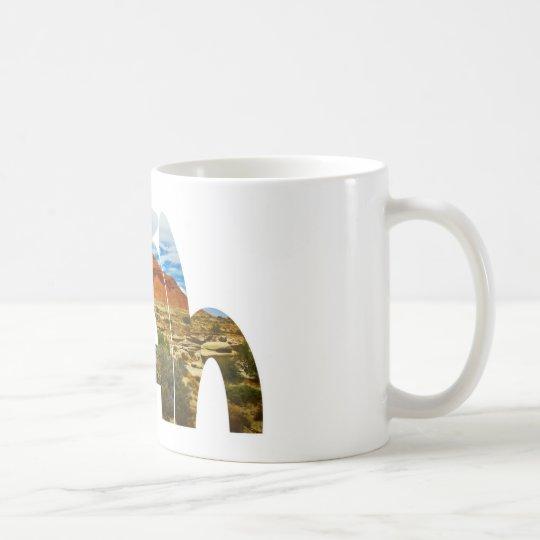 Utah desert logo coffee mug