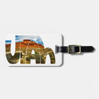 Utah desert logo travel bag tag
