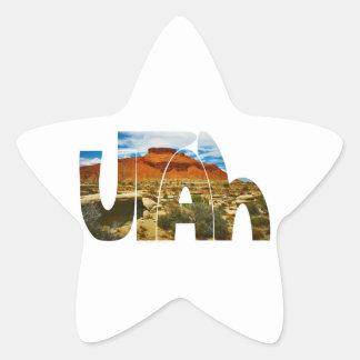 Utah desert logo star sticker