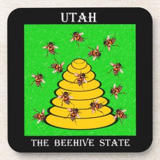 Utah el estado de la colmena posavasos de bebidas