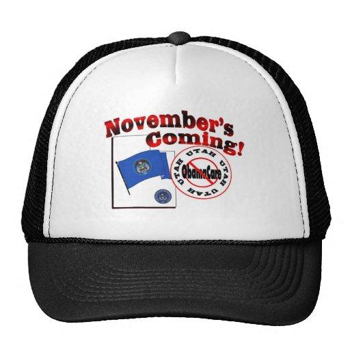 ¡Utah el venir anti de ObamaCare - de noviembre! Gorras De Camionero