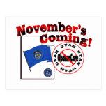¡Utah el venir anti de ObamaCare - de noviembre! Tarjetas Postales